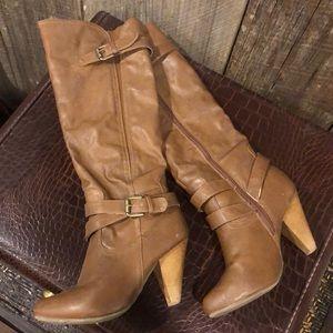 💗💗Tall brown dress boots